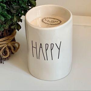 Rae Dunn HAPPY Candle - Citrus Bergamot Scent
